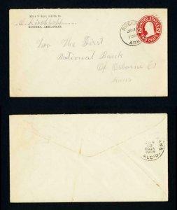 Cover from Rogers, Arkansas to Osborne, Kansas dated 1-11-1909