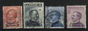 Italy-Salonika 2-5   used 1909-11 PD