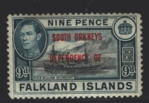 Falkland Islands Sc#4L7 MVLH - couple tone spots