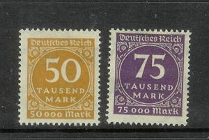 Germany 239-240 MH Numerals