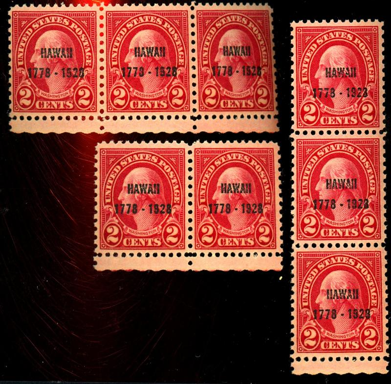 647 (8) MINT F-VF OG NH Cat$58