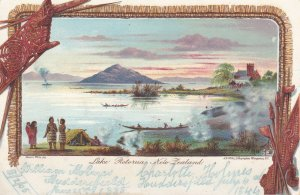 NZ33) New Zealand 1890's pair of full colour undivided back Official Government