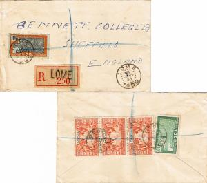 Togo 30c and 50c Cacao Trees and 90c Paris International Colonial Exposition ...