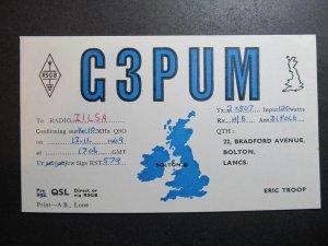 10410 Amateur Radio QSL Card BOLTON LANCS ENGLAND