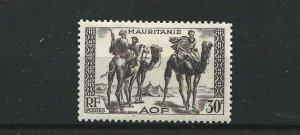 MAURITANIA  1938 - 40  30C  BROWN PURPLE           MH