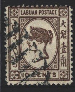 Labuan Sc#45 Used