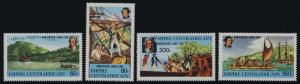 Central Africa 341-4 MNH Captain Cook, Ship, Endeavour