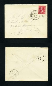 Cover from Brooklyn, New York to New York, New York dated 10-4-1895