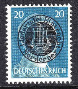 GERMANY 516 LIEDERTAFEL EINTRACHT NORDERNEY LYRE OVERPRINT OG NH U/M F/VF