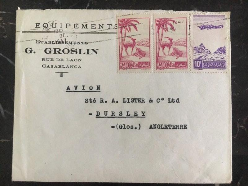 1947 Casablanca Morocco Cover G Groslin Industrial Equipment To Dursley UK