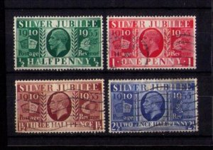 GB SG 453 - 456 (1935) KGV Silver Jubilee Used Set of 4 Stamps VF