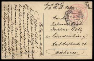 Austria 1916 WWI Navy Torpedoboat SM Boot SMB16 Pola KuK Feldpost Card 79360