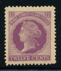 PRINCE EDWARD ISLAND: Sc.#16  **  12¢. Violet, SUPERB HUGE JUMBO MARGINS, Ne...