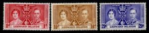 Leeward Islands 100-2 MNH King George VI Coronation