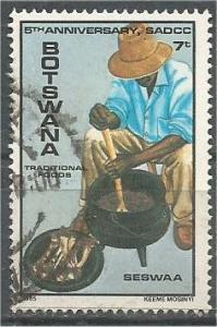 BOTSWANA, 1985, used 7t,  Man preparing Food, Scott 359