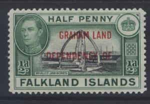 Falkland Is Dep.- Scott 2L1- Overprint Definitive-1944- MLH - Single 1/2d Stamp