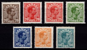 Denmark 1913-28 Christian X Definitives, Part Set [Unused]