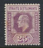 Straits Settlements Edward VII SG 161  Mint Hinged light toning