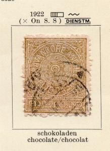 Travancore 1922 Early Issue Fine Used 5ca. 322488