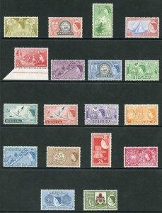 Bermuda SG135/50 1953 Set of 18 U/M