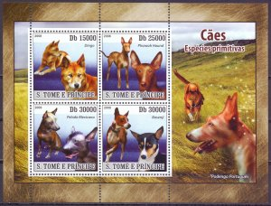Sao Tome and Principe. 2008. 3707-14. Dogs. MNH.