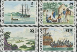 Norfolk Island 1989 SG460-463 Mutiny on the Bounty set MNH