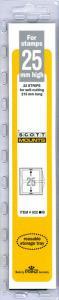 Prinz Scott Stamp Mount 25/215 - BLACK Background - Pack of 22