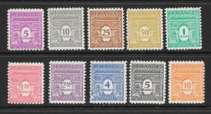 FRANCE Sc#475-476H Mint Moderately Hinged Complete Set