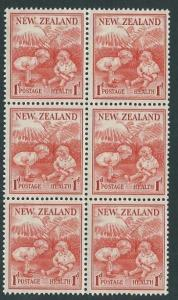 NEW ZEALAND 1938 Health block of 6 MNH - SG cat £51........................60313