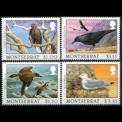 MONTSERRAT 1997 - Scott# 916-9 Scavenger Birds Set of 4 NH