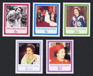 Pitcairn 60th Birthday of Queen Elizabeth II 5v SG#285-289 SC#270-274