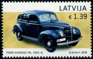 HERRICKSTAMP NEW ISSUES LATVIA Sc.# 999 Antique Auto, Ford Vairogs