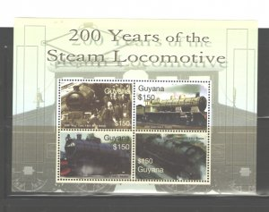 GUYANA 2004 LOCOMOTIVES  #3871 MNH