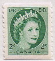 Canada Mint VF-NH #345 QEII 2c coil