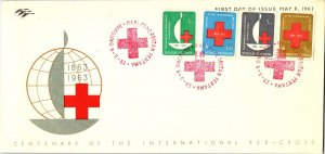 Indonesia, Worldwide First Day Cover, Red Cross
