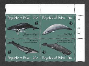 PALAU #24-27 MNH Plate Block  CV $6.50+