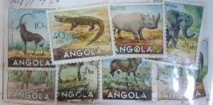 Angola Scott cat #388//400 9 Different Animals