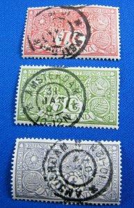 NETHERLANDS 1906  -  SCOTT # B1-B3       USED     (XN5)