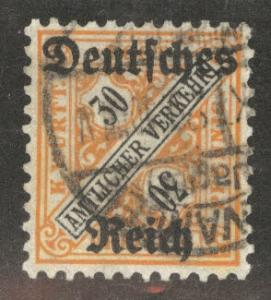 Germany State Wurttemberg Scott o180 Used
