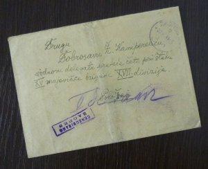 Yugoslavia 1945 Croatia Serbia Censored Cover Sent from Zagreb B5