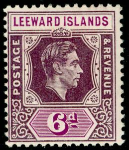 LEEWARD ISLANDS SG109, 6d deep dull purple & brt purple, M MINT. Cat £32. ©