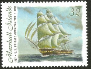 MARSHALL ISLANDS 1997 USS CONSTITUTION Bicentennial Ship Issue Sc 642 MNH
