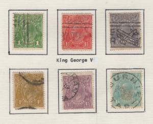 Australia 1926-30 Stamps King George V Short Set 6 Stamps F