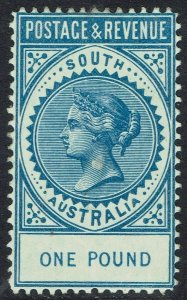 SOUTH AUSTRALIA 1886 QV POSTAGE & REVENUE 1 POUND PERF 11.5 -12.5