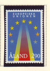 Aland Sc 113 1995 European Union Entry stamp mint NH