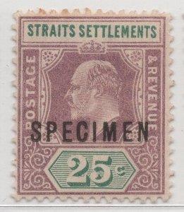Malaya Straits Settlements - 1902-03 - SG116s - 25c - MH #704