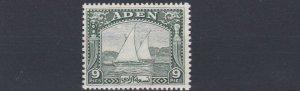 ADEN  1937  S G 2  9P  DEEP GREEN    MH