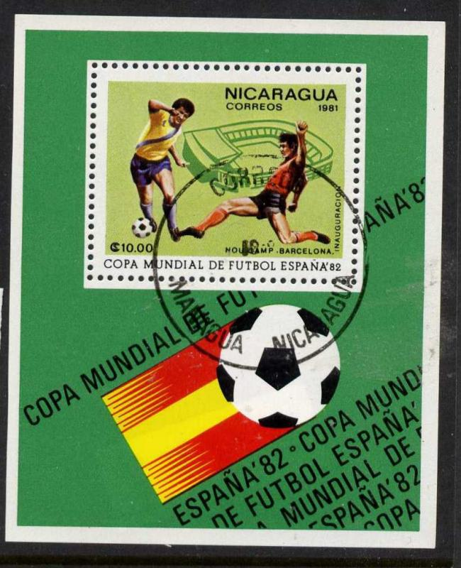 Nicaragua 1109H used (cto) - Sports, World Cup Soccer