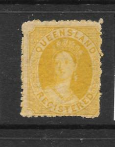QUEENSLAND 1860-61  6d  REGISTERED   QV    MLH    SG 11