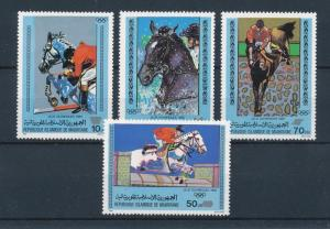 [60863] Mauritania 1980 Olympic games Moscow Equestrian Horses MNH